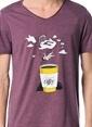 T.easeWear Project Baskılı Tişört Bordo